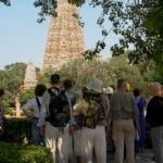 Met Maarten Olthof bij de Mahabodhitempel in Bodhgaya