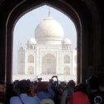 Taj Mahal door toegangspoort © Maarten Olthof