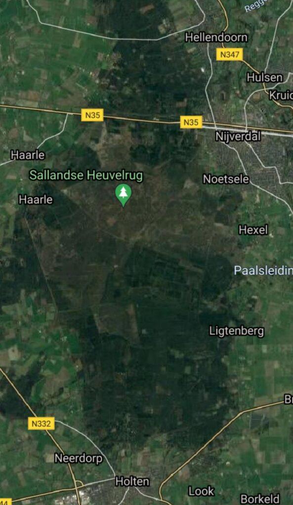 Met Maarten Olthof over de Sallandse Heuvelrug - Kaart